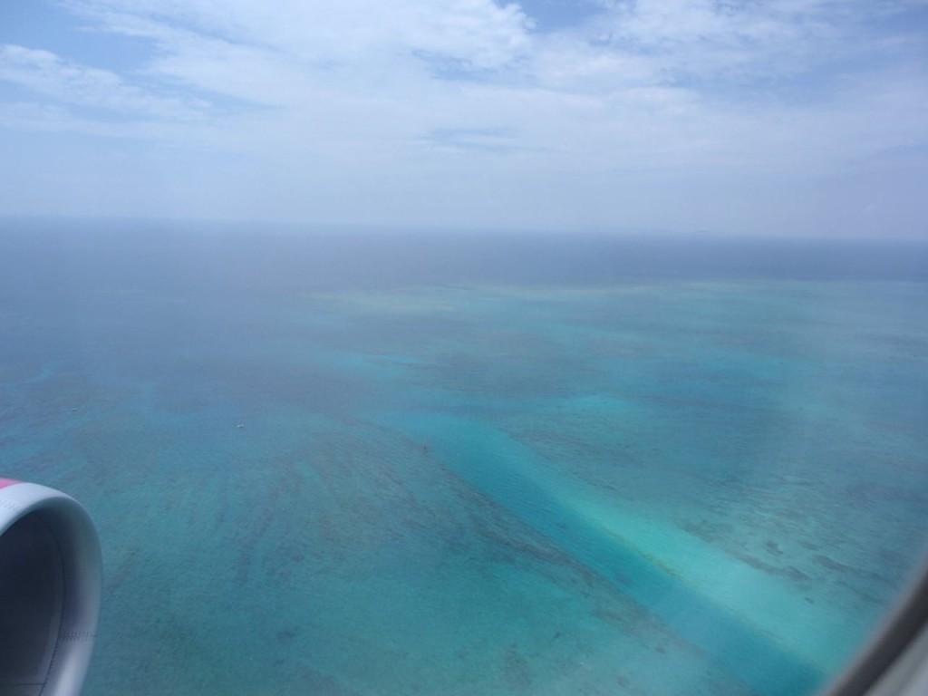 飛行機からの海