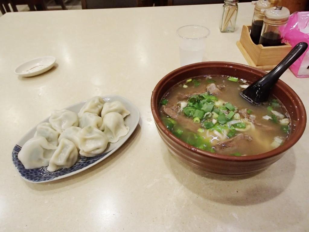 伍柒玖の牛肉麺と水餃子
