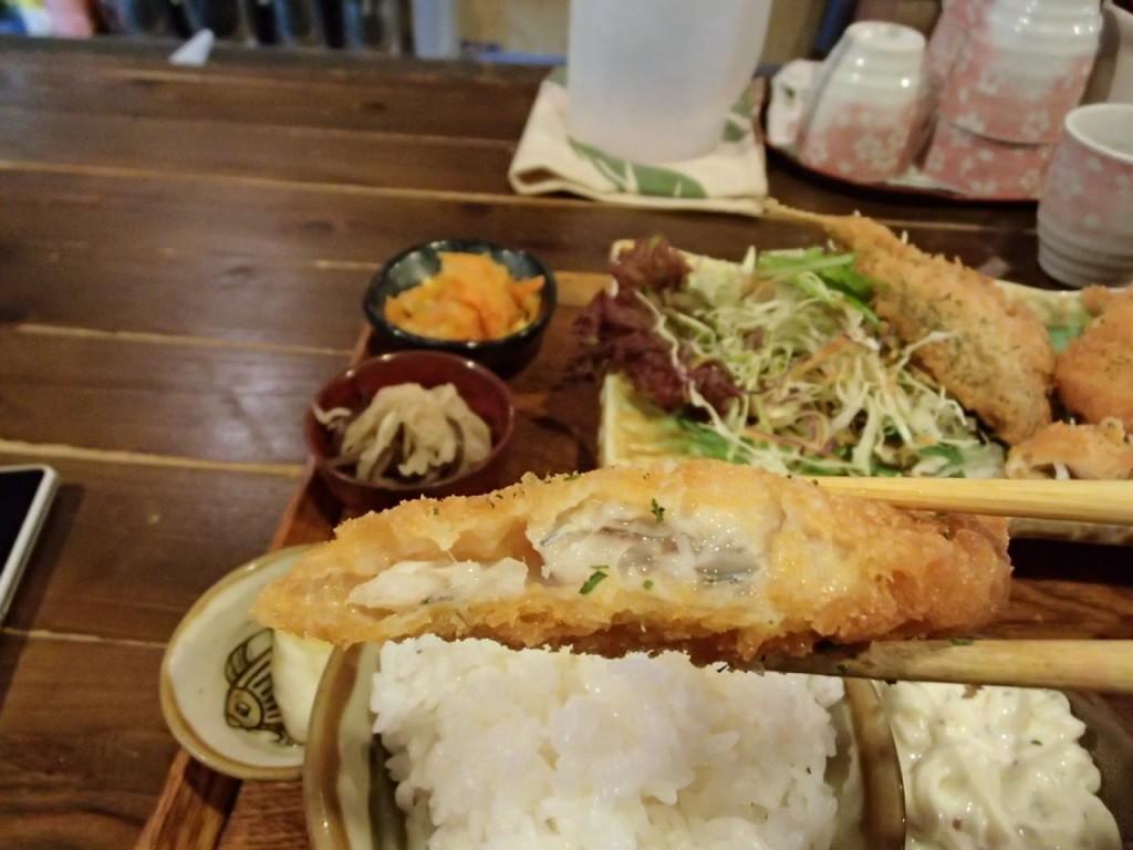 石嶺食堂の白身魚フライ