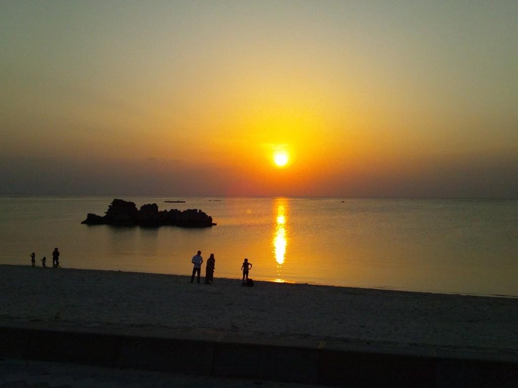 サンセットビーチの夕陽1