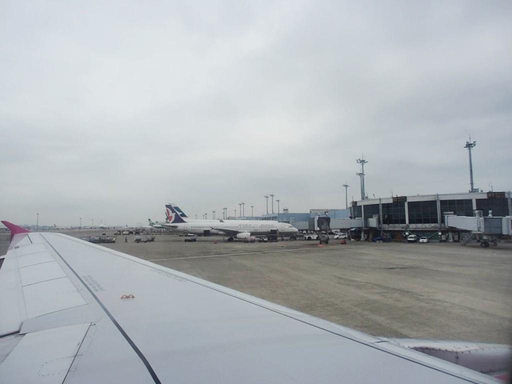 台北空港着