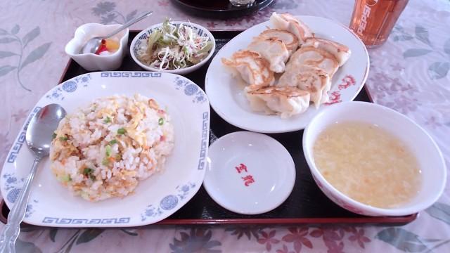漢謝園の焼き餃子定食1