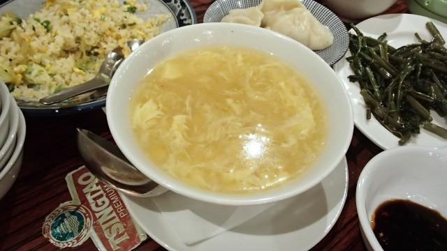 金燕楼のコーンスープ1