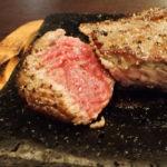 【那覇市 牛若丸】お得!とまりん向かいで1,000円ステーキ!サラダとスープはお代わり自由!